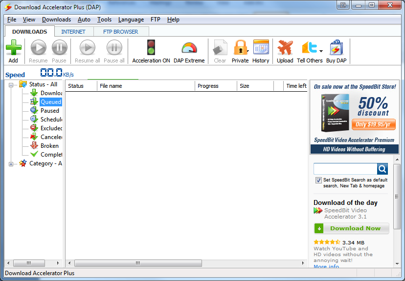 Download Accelerator 10.0.5.9 Plus