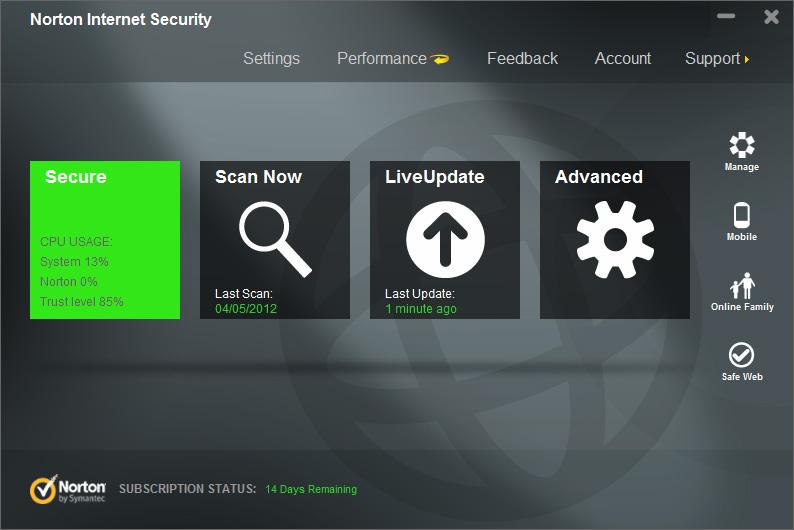 Norton Internet Security 2014 Ver 21.1.0