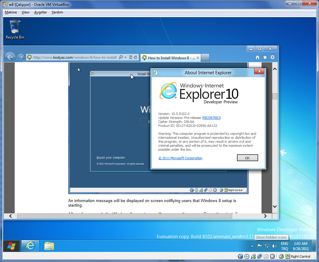Internet Explorer10 Final For Windows 7