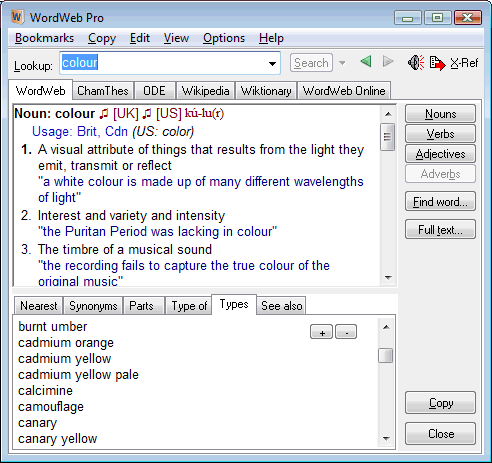 WordWeb 6.8 Dictionary