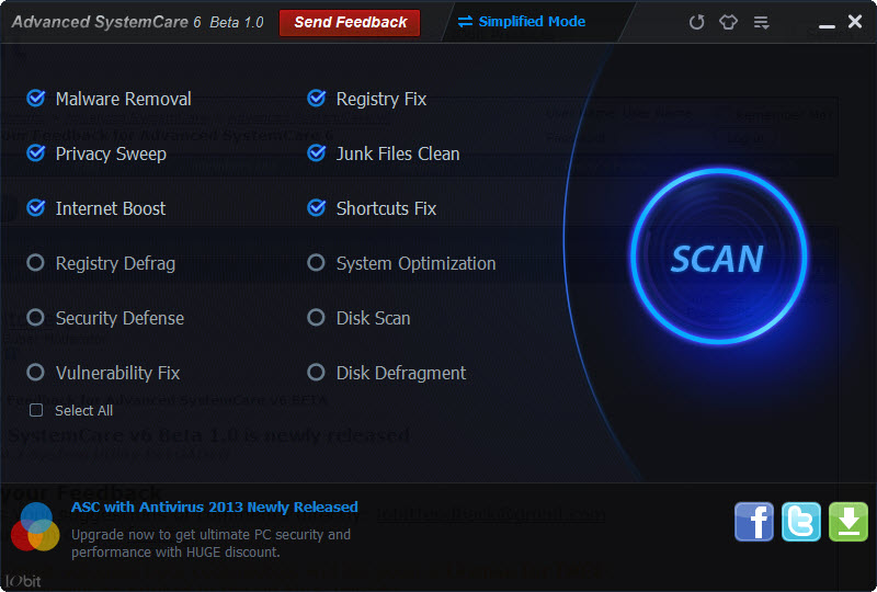 Advanced System Care 7.2.0 Free 2014