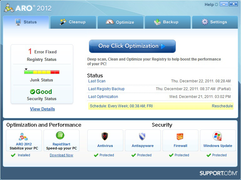 ARO 2012 Version 8 - Advanced Registry Optimizer