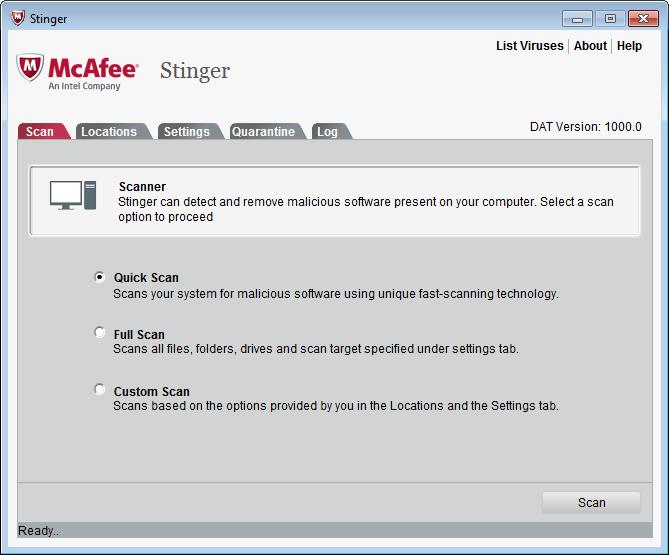 McAfee Stinger 11.0.0.315