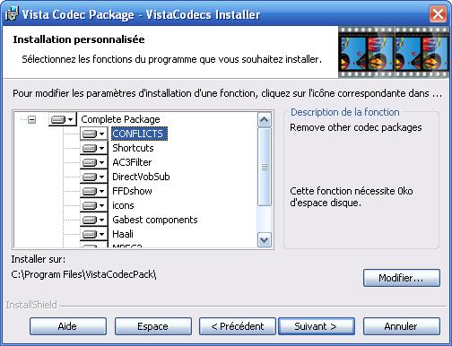 Vista Codec 6.6.5 Package