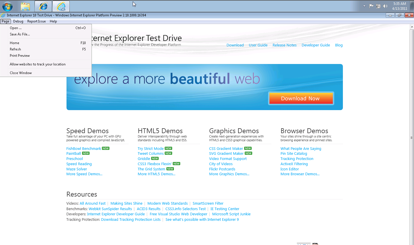 Internet Explorer 11 for Windows 7 Final IE