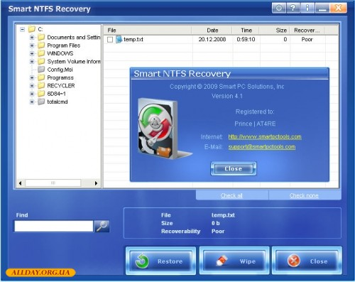 smart ntfs recovery 4.1 portable