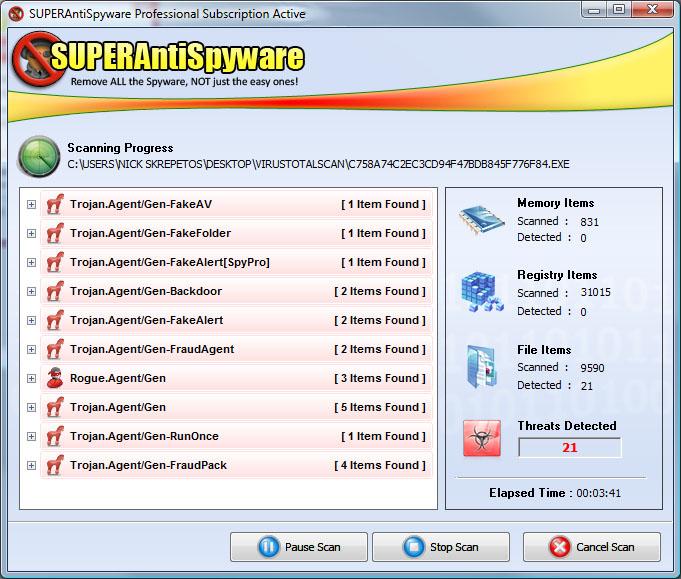 SUPERAntiSpyware 6.0.1158 Free 2014