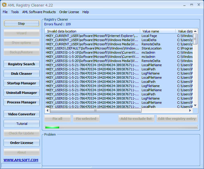 AML Free Registry Cleaner 4.24