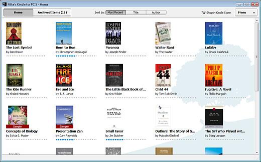 Kindle for PC - Program Screenshots