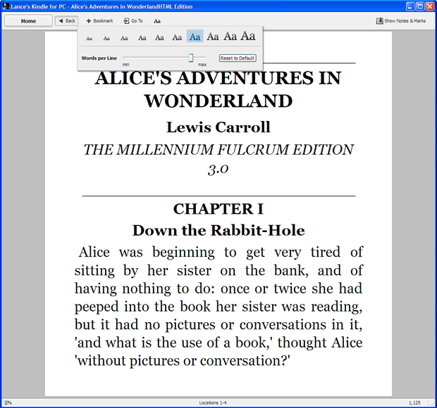 Kindle for PC 1.10.5.40382