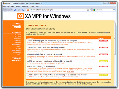 XAMPP 1.7.7 For Windows