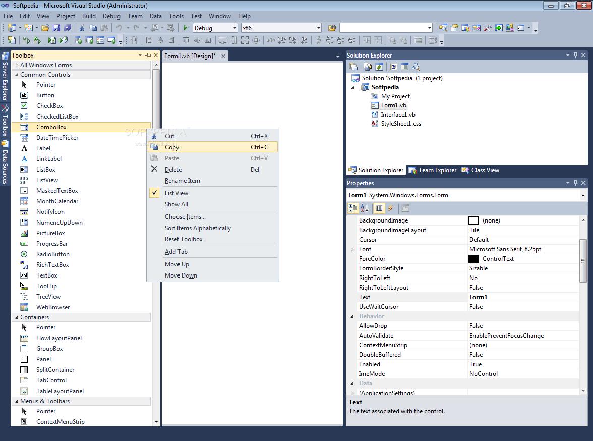 Visual Studio 2012 Express for Windows Desktop, Web