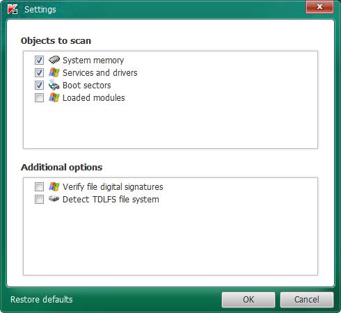 Kaspersky TDSSKiller 2.8.13 Rootkit Removal Utility