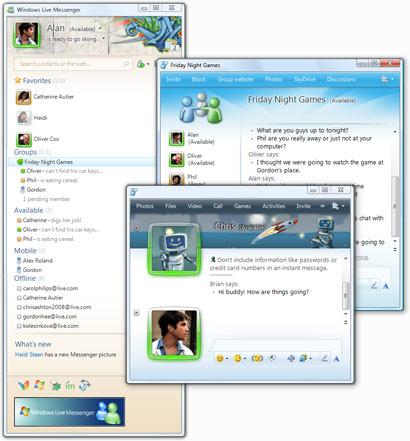 Windows 8 Windows Live Messenger full