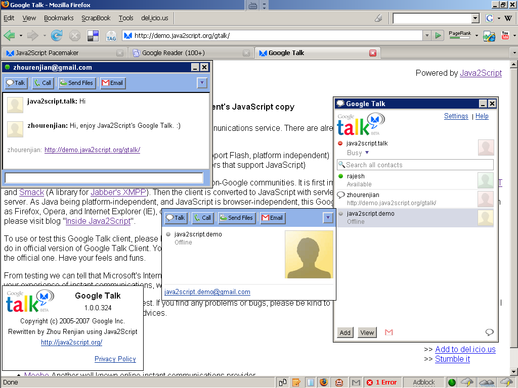 Google Talk 1.0.0.105