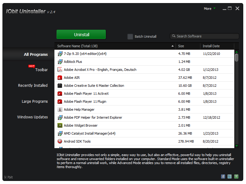 IObit Uninstaller 2.4.6.325