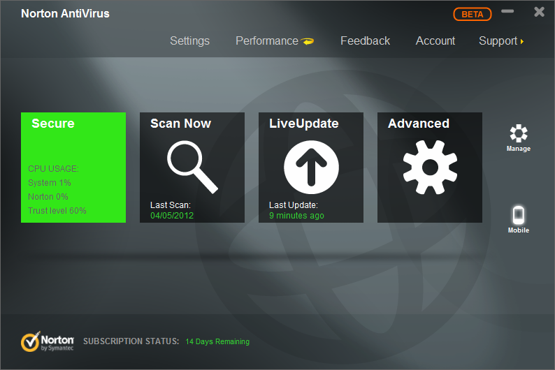 Norton AntiVirus 20.3.1 Final 2013