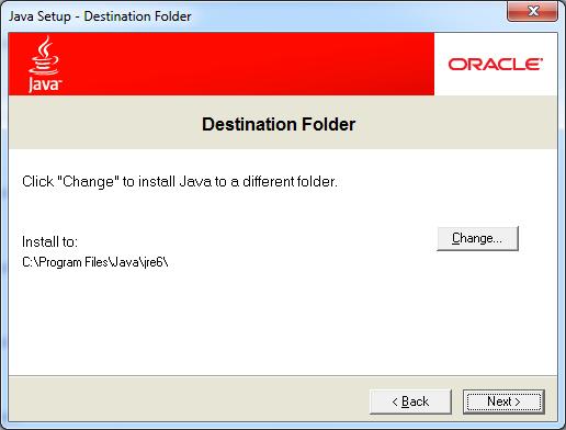 Java Runtime Environment - Program Screenshots