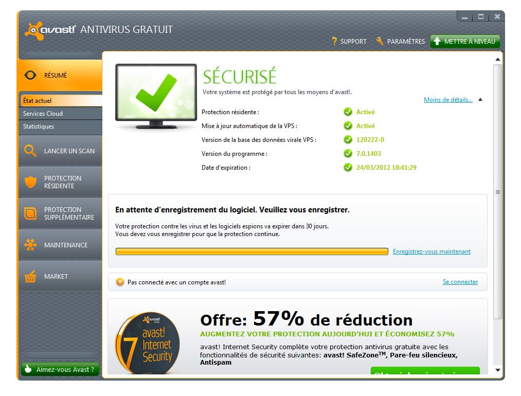 Поэтому можно установить Естественно, Avast. Free antivirus