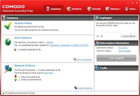 Comodo Internet Security 7.0.3 Free