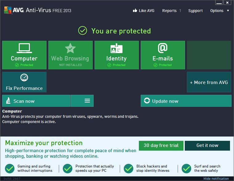 AVG Anti Virus 2017.5.30 Free Edition
