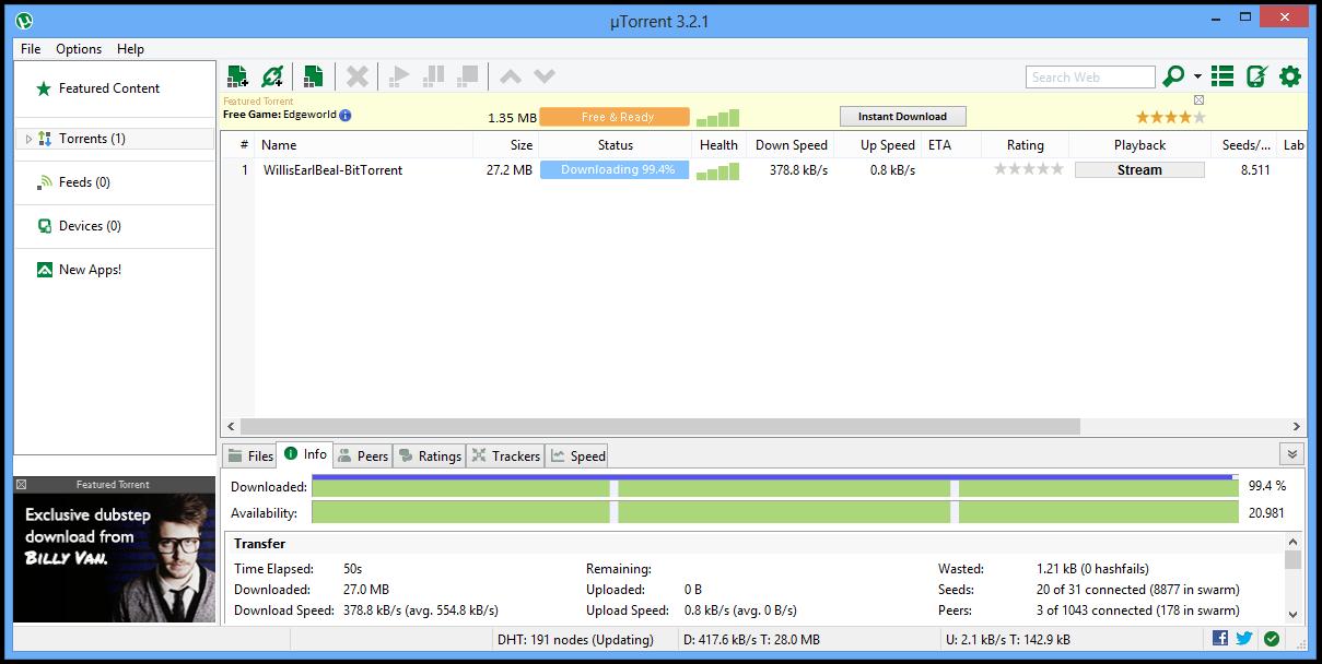 Utorrent Program Screenshots