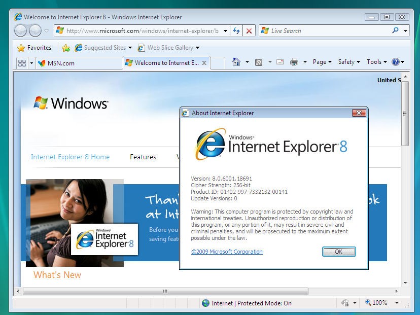 Internet Explorer 8.0 XP