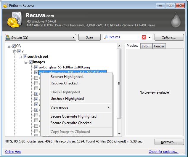 Recuva 1.53 best to restore deleted files 2019
