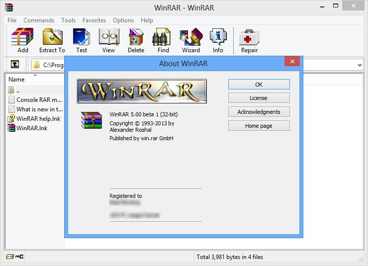 WinRAR 5.80 unzip files 2019